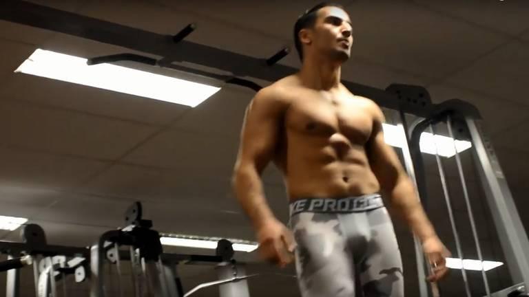 Mohamed in de sportschool