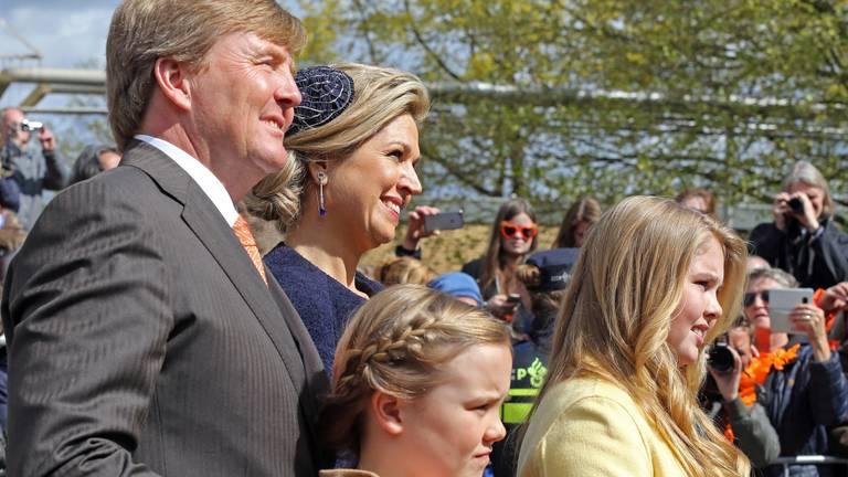 De koning vierde in 2017 zijn verjaardag in Tilburg. Foto: Karin Kamp