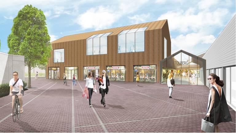 Zo komt winkelcentrum Tolberg eruit te zien. (Afbeelding: gemeente Roosendaal)