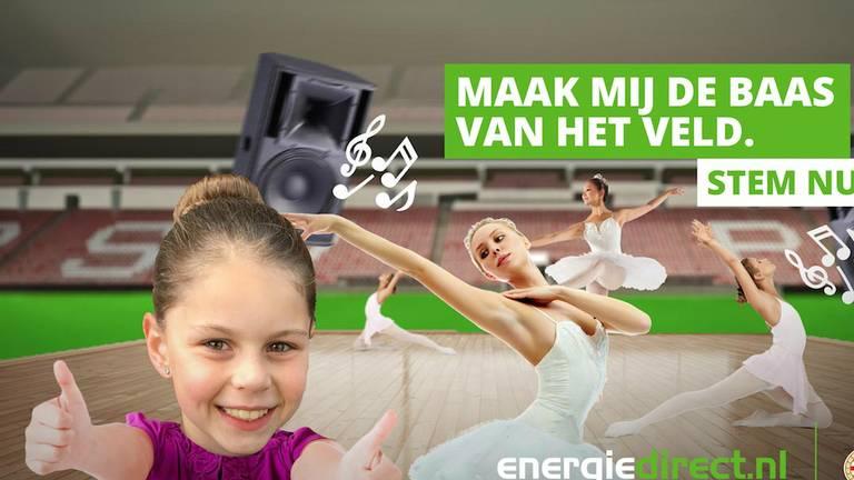 Floor lijkt ballet in het Philips Stadion wel wat. (Afbeelding: Energiedirect)
