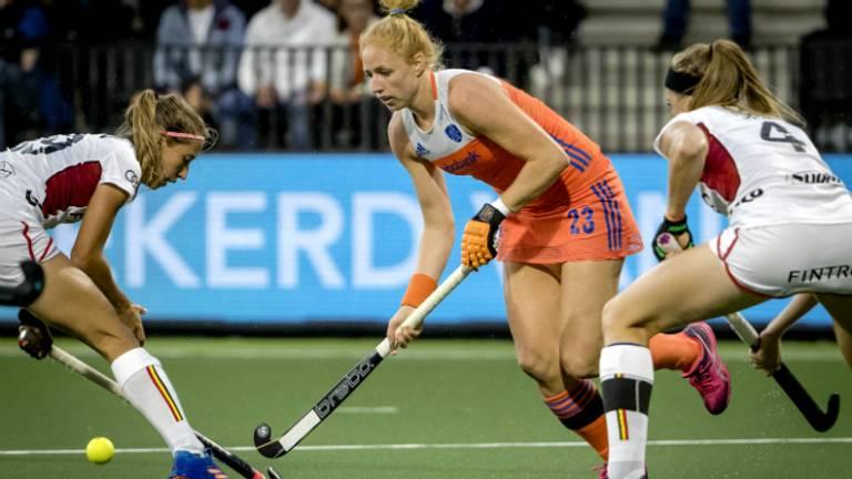 Margot van Geffen in actie (Foto: ANP)