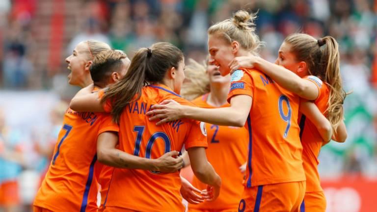Het damesteam van Oranje speelt in april in Eindhoven. (Foto: ANP)