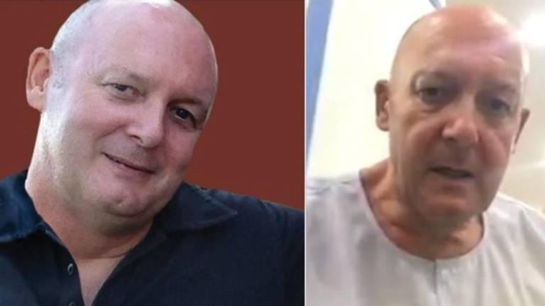 Johan van Laarhoven voor en na de Thaise cel.
