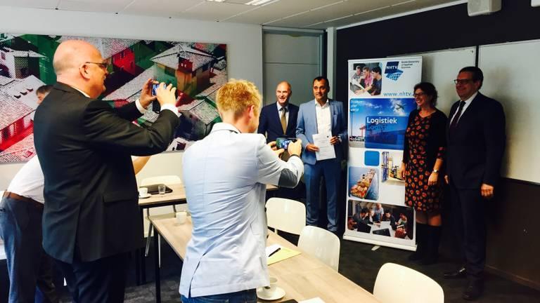 De initiatiefnemers op de NHTV in Breda (foto: Raoul Cartens)