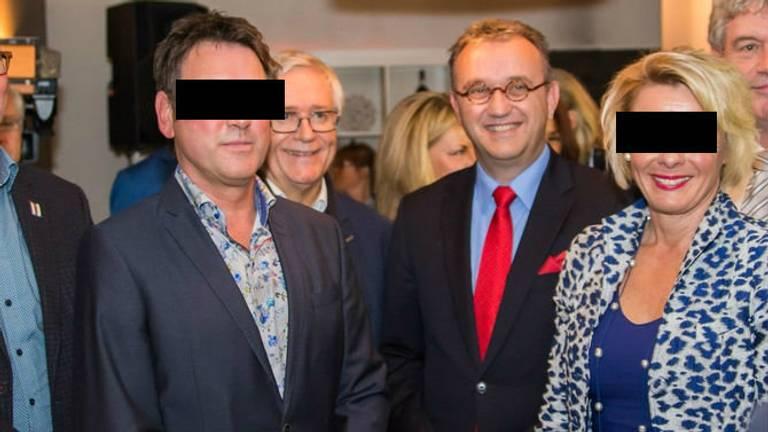 Pieter H. en zijn ex-vrouw Diana op een feestje. (Foto: Facebook)