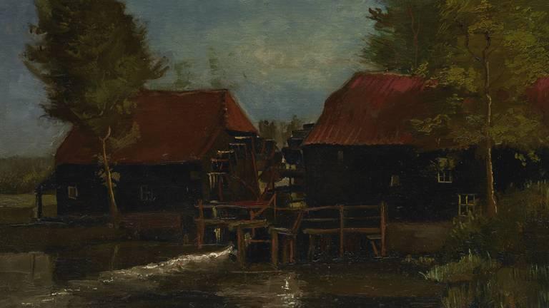 Het schilderij Collse watermolen.