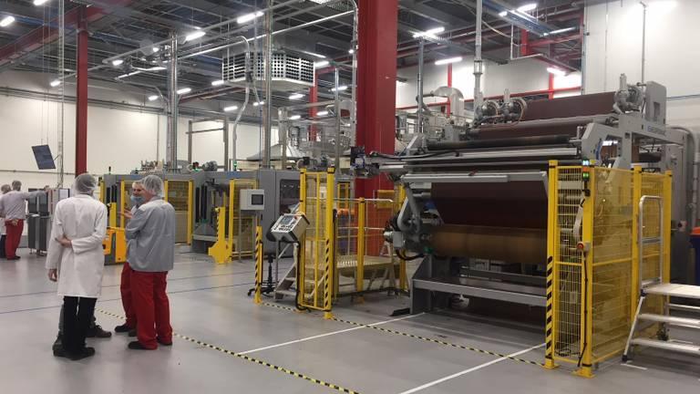 De nieuwe productielijn is donderdag in gebruik genomen (Foto: Erik Peeters)