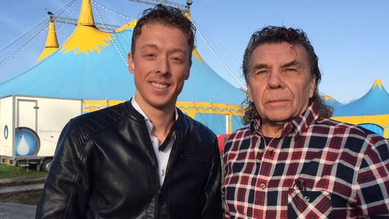 circusdirecteur Kevin van Geet met opa Peter Verberk