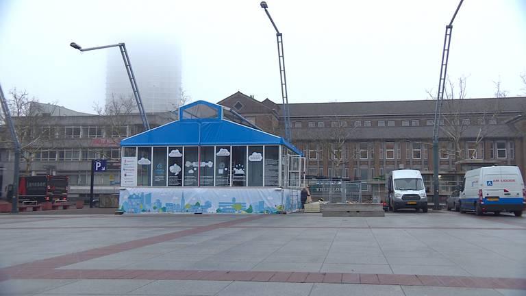 Het 'glazen huis' met de luchtzuivering in Eindhoven
