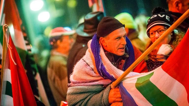 Groningers demonstreren tegen de aardgasboringen. Foto: ANP
