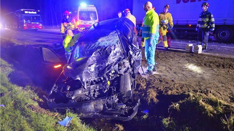 De bestuurder raakte zwaar gewond. Foto: SQ Vision