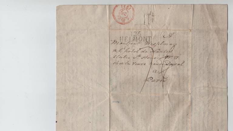 De brief is dinsdag aan het kasteel geschonken