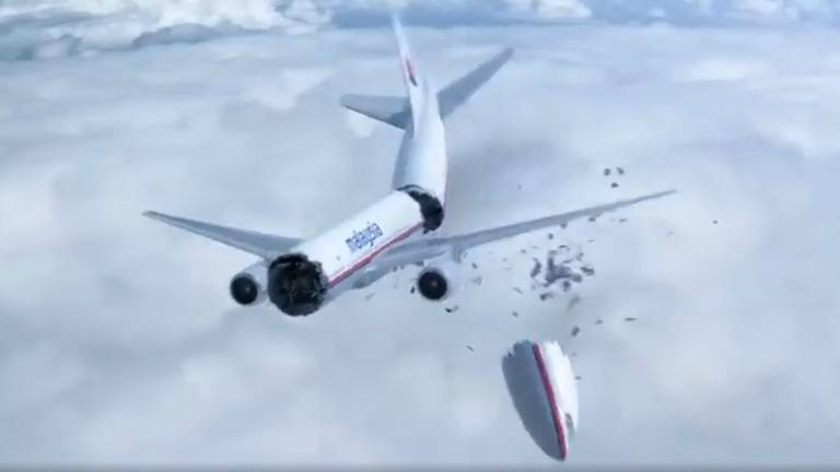 Beeld uit de documentaire over de ramp met vlucht MH17 van National Geographic.