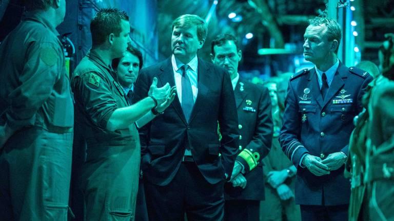 Het werkbezoek van de koning (foto: communicatie Vliegbasis Eindhoven)