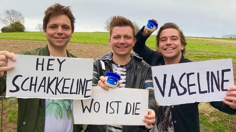 De Duitse versie van Hé Jacqueline wordt gezongen door het drietal Dorfrocker. (Foto: Facebook Dorfrocker)