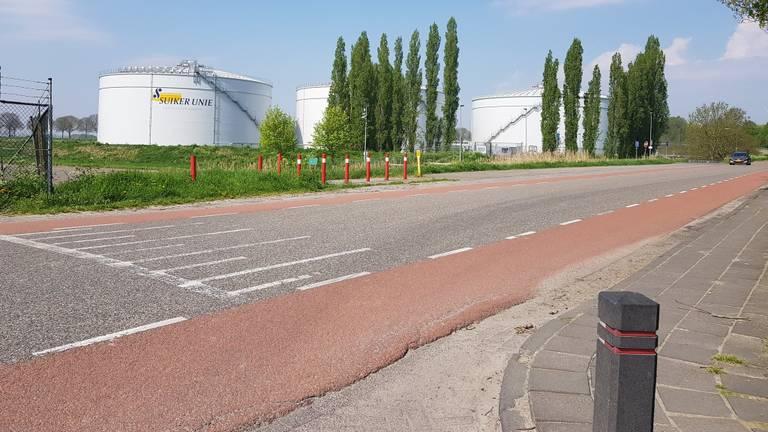De straat waar het ongeluk gebeurde (Foto: Merel de Leuw).