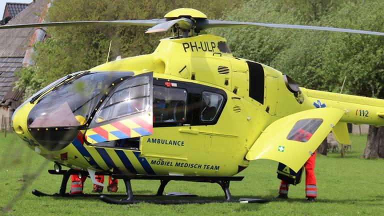 Een traumahelikopter werd opgeroepen. (Archieffoto: Danny van Schijndel)