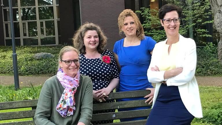 Ankie van Extel-Van Katwijk, Wilmie Steeghs, Inge van Dijk en Miranda de Ruiter (Foto: CDA Gemert-Bakel).