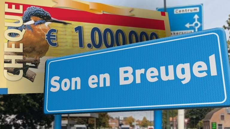 1 miljoen voor de deelnemers aan de Postcodeloterij in Son en Breugel FOTO:  Salvador Rooijmans