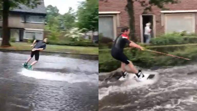 Noodweer in Brabant (Foto: Facebook).