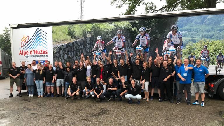 Het logistieke team van Alpe d'HuZes