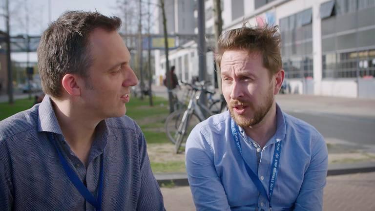 Merlijn Passier in gesprek met Steye Hallema (r). Foto: Brabant 2050