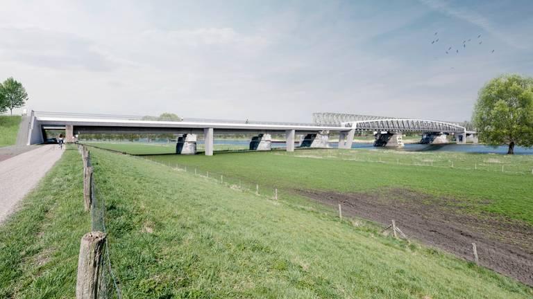 De fietsbrug is naar verwachting eind 2020 klaar (foto: Henk Ruijs)
