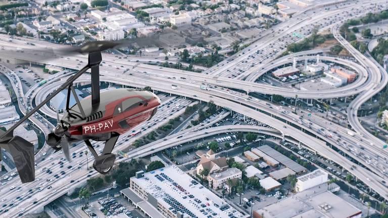 Een vliegende auto (Foto: Brabant 2050)