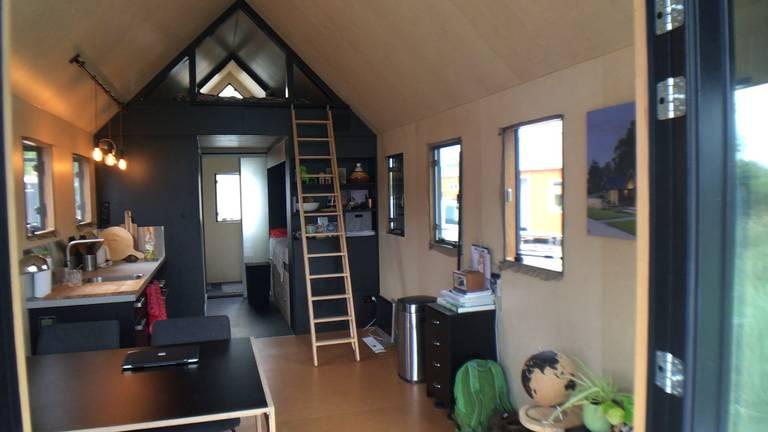 De binnenkant van een tiny house in Minitopia.