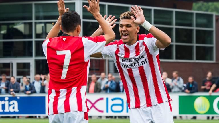 Joël Piroe scoorde voor Jong PSV (foto: VI Images).