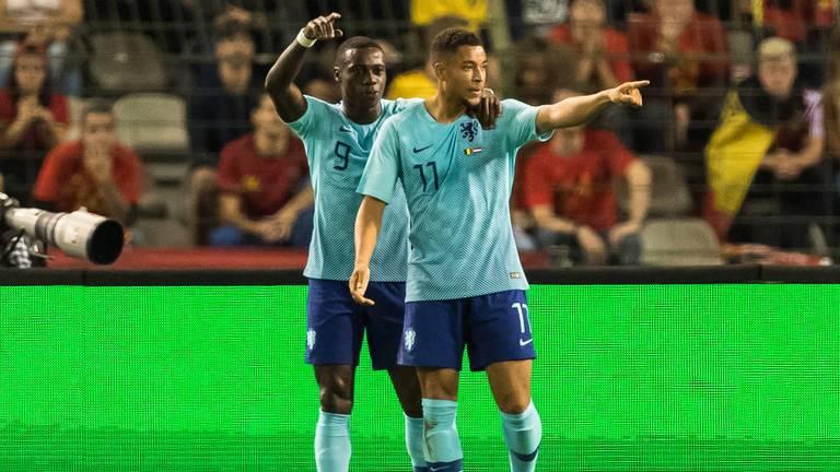 Arnaut Danjuma scoorde zijn eerste goal voor Oranje (foto: VI Images).