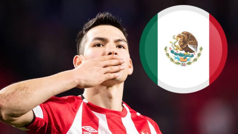 Hirving Lozano, de Mexicaanse superster van PSV. (Foto: VI Images)