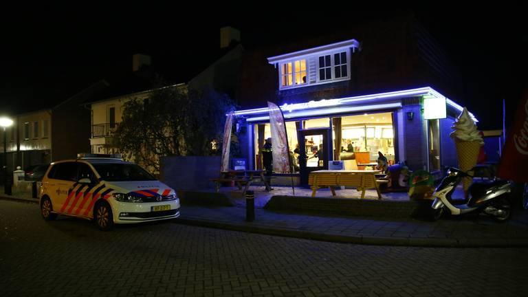 Cafetaria de Hulst overvallen (Foto: Danny van Schijndel)