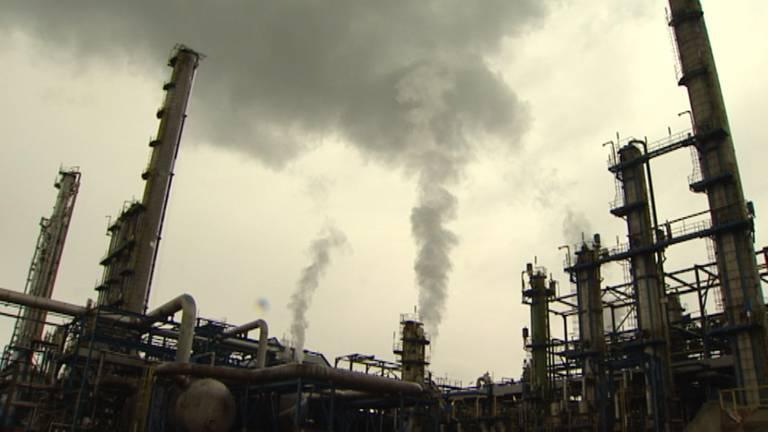 Fabriekscomplex Chemelot in Limburg. (Foto: L1).
