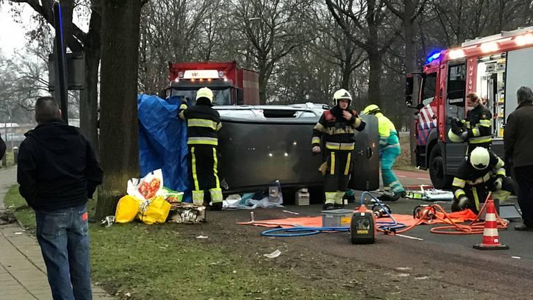 Eenzijdig ongeluk in Vught (foto: Bart Meesters)