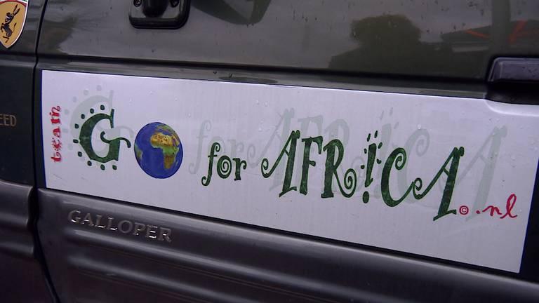 Het logo van 'Go for Africa'