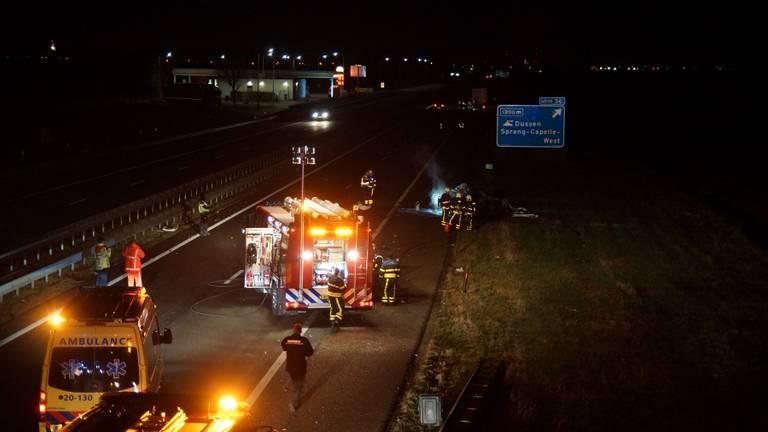 Dode bij ongeluk op de A59. (Foto: FPMB)