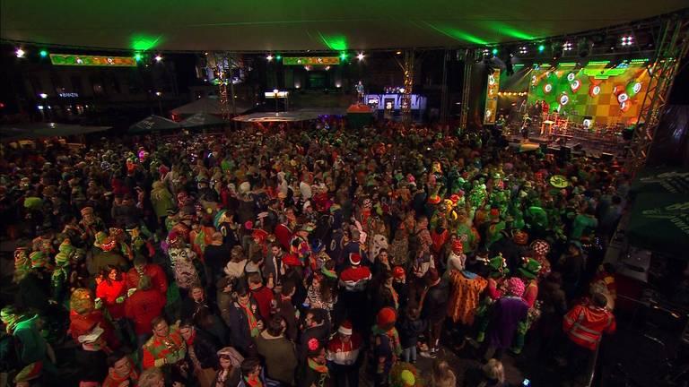 Het is traditiegetrouw druk bij Kruikenstad in Koor (foto: Omroep Brabant)