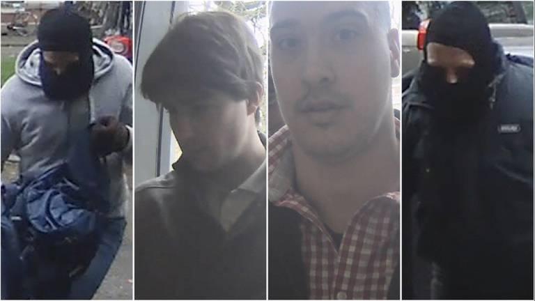 De politie gaf vrijdag vier foto's van de overvallers vrij.
