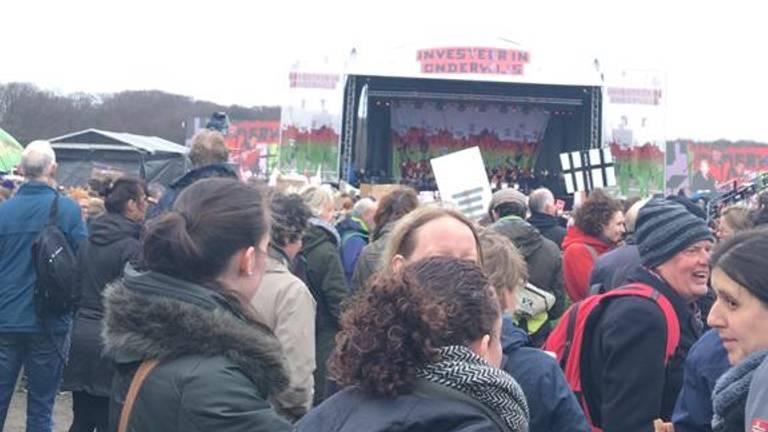 15 maart gingen de stakende leraren nog naar het Malieveld in Den Haag.
