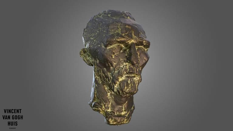 De 3D-versie van het bronzen beeld (beeld: Vincent van GoghHuis).