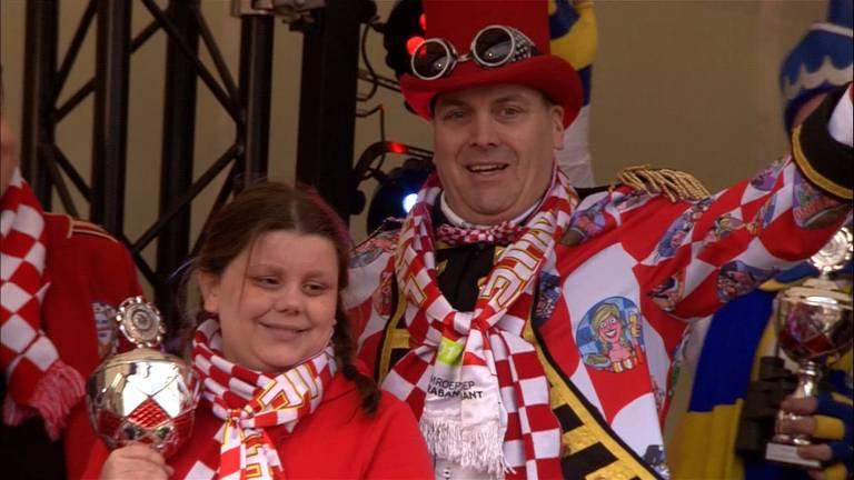 Harrie-Jan van Nunen en zijn dochter Lonne wonnen de eerste prijs