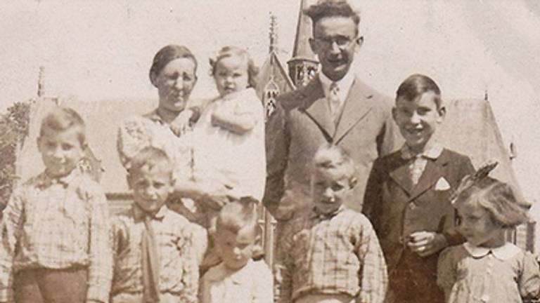 Johan Biemans en zijn familie.