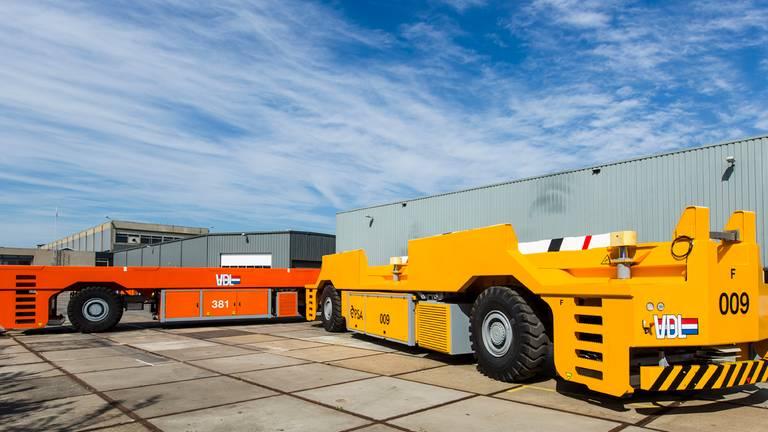 De zelfrijdende vrachtwagens (foto: VDL)