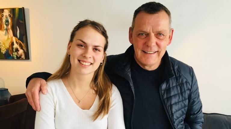 Britt en haar vader Sjef Heijmans.
