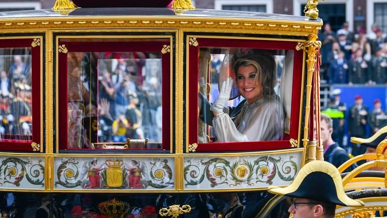 Koningin Máxima in 2018 in de Glazen Koets. (Foto: ANP)