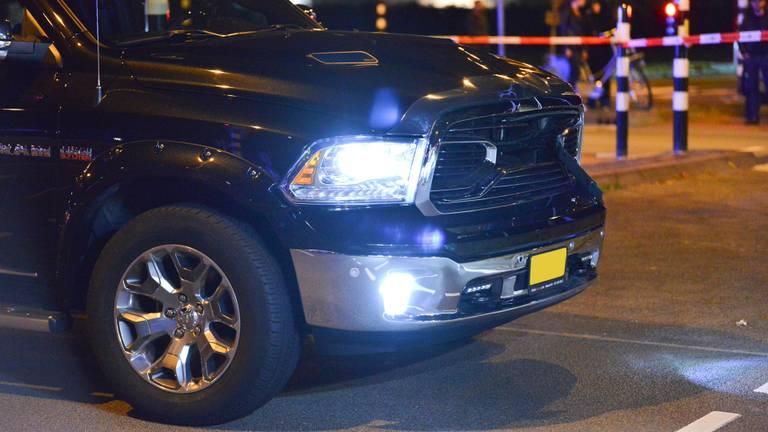 De auto die betrokken was bij de aanrijding. (Foto: Perry Roovers / SQ Vision)