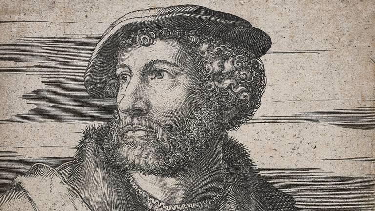 Een portret van Lucas Gassel gemaakt door Jacob Bink in 1529. (Brabant Collectie, Tilburg University)