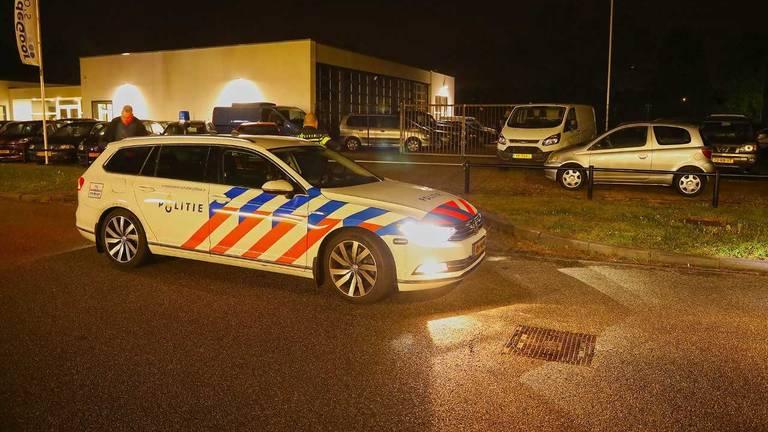De politie kon het busje uiteindelijk stoppen in Oss (Foto: Gabor Heeres).