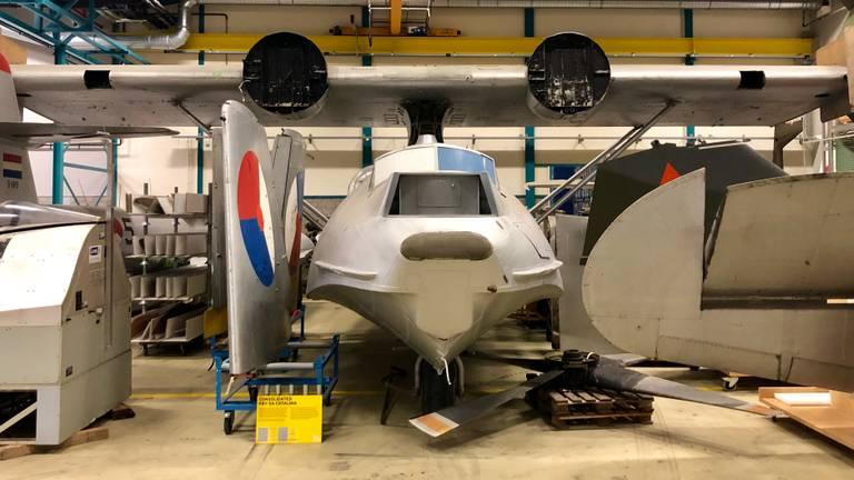 De Catalina in de hangar van het Nationaal Militair Museum (foto: Erik Peeters)